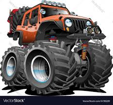 cartoon jeep front 4x4 vector images over 990