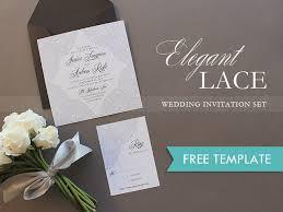 free elegant lace printable wedding invitation