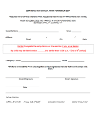 senior prom 2017 parent letter u0026 permission slip 2 u2013 page 3