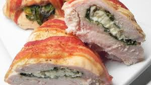 bacon wrapped turkey breast stuffed with spinach and feta recipe