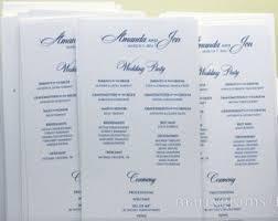 affordable wedding programs fast wedding program etsy