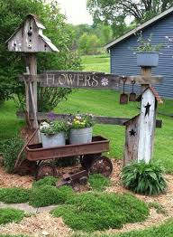 25 unique rustic garden decor ideas on country garden
