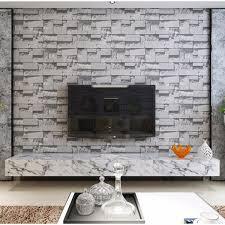 wallpaper design batu bata 10m 3d brick stone natural color slate environmental non woven