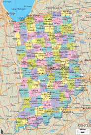 Pennsylvania Counties Map by Indiana Counties Map