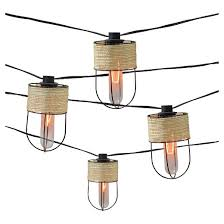 Edison Lights String by 10ct Decorative String Lights String Wrapped Metal Cage Cover With