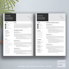 Simple Creative Resumes Creative Resume Template Cover Letter Word Modern Simple