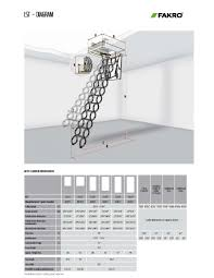 Height Of Handrails On Stairs by Metal Scissor Attic Ladders Lst Lsf Fakro
