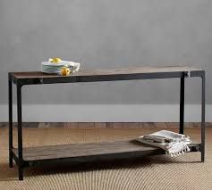 salvaged wood console table clint reclaimed wood console table pottery barn