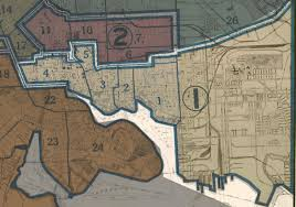 Baltimore City Map Baltimore City 1935 District 1