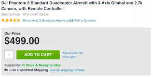 dji phantom 3 amazon black friday deal dji phantom 3 standard quadcopter w 2 7k camera 499 shipped