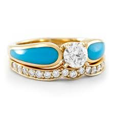 turquoise and wedding ring desert oasis radiance tier 4 turquoise engagement ring