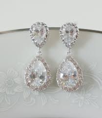 wedding earrings drop bridal earrings wedding jewelry swarovski wedding