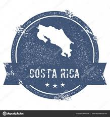 Map Costa Rica Costa Rica Mark Travel Rubber Stamp With The Name And Map Of Costa