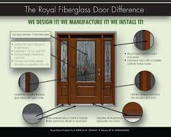 Exterior Door Sweeps by Fiberglass Entry Door Royal Windows And Doors