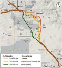 Apache Junction Az Map Proposed Phoenix Tucson High Speed Rail Routes Up For Public Input