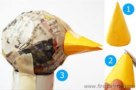 How To Make A Paper Beak - papier mache turkey craft crafts firstpalette