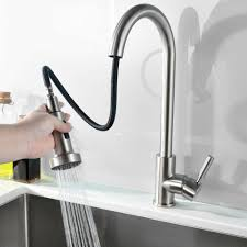brushed nickel single handle kitchen faucet comllen best commercial single handle pull out sprayer stainless