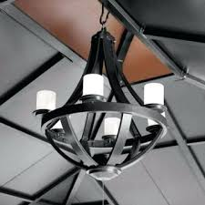 living home outdoors battery operated led gazebo chandelier
