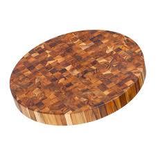 proteak 303 circular end grain cutting board teak wood circular
