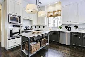 black kitchen island with stainless steel top large black kitchen island with black countertops transitional