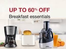 amazon kitchen appliances amazon breakfast essentials sale upto 60 off on kitchen home