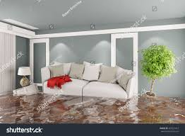 Living Room With Furniture Living Room Sofa Other Furniture After Stock Illustration