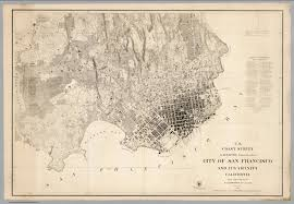 San Francisco In Us Map by U S Coast Survey City Of San Francisco And Its Vicinity