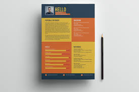 Best Resume Template App by Flat Style Resume Template Freebie On Behance