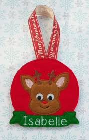 personalised christmas tree decoration reindeer christmas