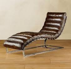 Chaise Lounge Leather Brown Leather Chaise Lounge Chair Foter