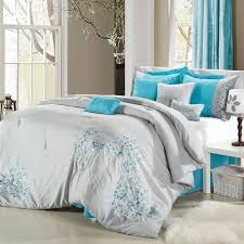 Teal And Grey Bedding Sets Space Living Flower 8 Grey Comforter Set View All