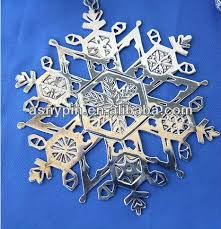 snowflake ornaments metal cut out tags engraved