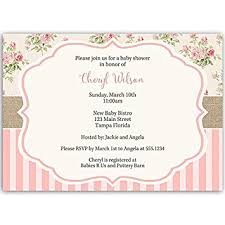 babyshower invitations baby shower invitations girl floral pink sprinkle