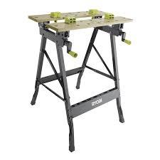 Workbench With Light Ryobi Foldable Workbench With Adjustable Angle Bunnings Warehouse