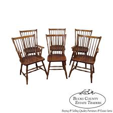 Stickley Dining Room Furniture For Sale by 9397 Stickley Vintage Solid Cherry Set Of 6 Windsor Style Dining