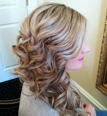 side prom hairstyles for long side swept cascading curls