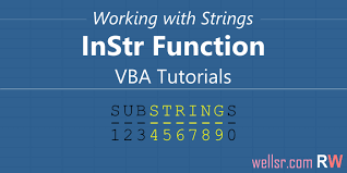 use vba instr to test if string contains substring wellsr com