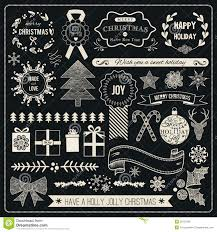 christmas hand drawn vector set royalty free stock photo image