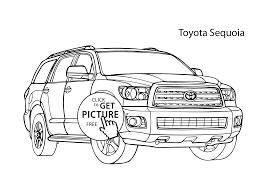 super car toyota sequoia coloring cool car printable free