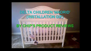 delta convertible crib toddler rail delta madrid 4 in 1 convertible crib installation gif youtube
