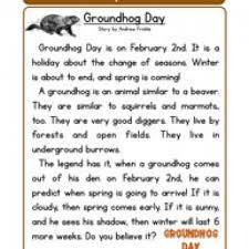 groundhog day reading comprehension worksheet second grade