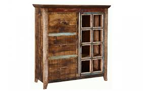 bookcase with file cabinet burleson home furnishings quality rustic multi color louvered