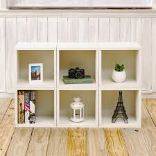 white cubby bookcase way basics barcelona 6 cubes zboard stackable modular storage