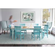 Teal Dining Table Extension Dining Table Maple Top