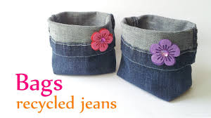10 unique ideas for recycled diy jeans bag beesdiy com
