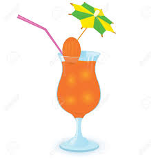 tropical cocktail silhouette juice clipart umbrella drink pencil and in color juice clipart