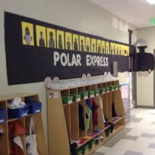 polar express door decoration my projects from the classroom