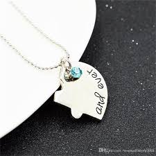 heart puzzle necklace images Wholesale hand stamped best friends forever heart puzzle piece jpg