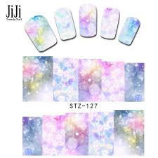 50sheets flower full wraps nail tip decals nail art water transfer