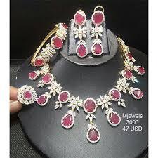 pink necklace set images Pink kundan necklace set at rs 3000 set kundan necklace set jpg